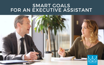 A Director with his Executive Assistant setting SMART goals