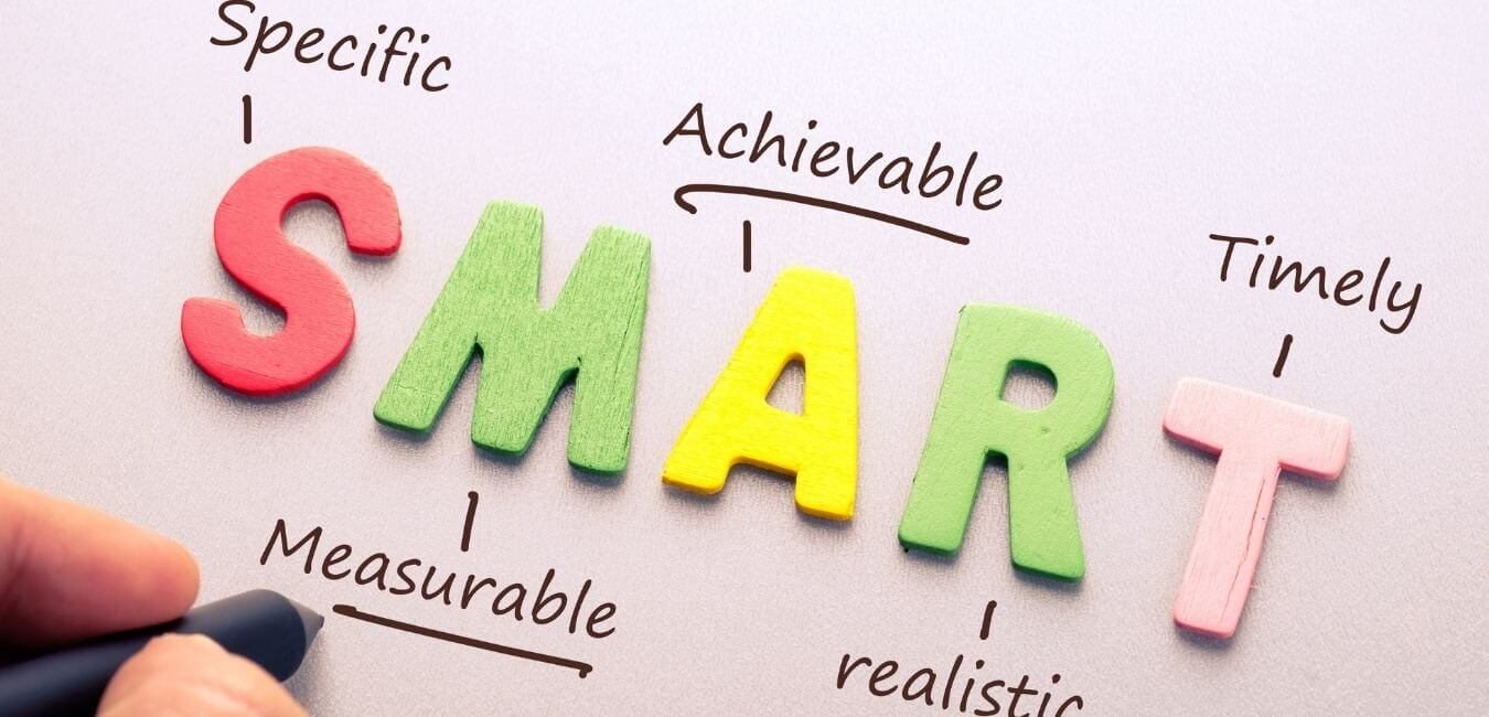 The word SMART stands for Specific, Measurable, Achievable, Realistic and Timely